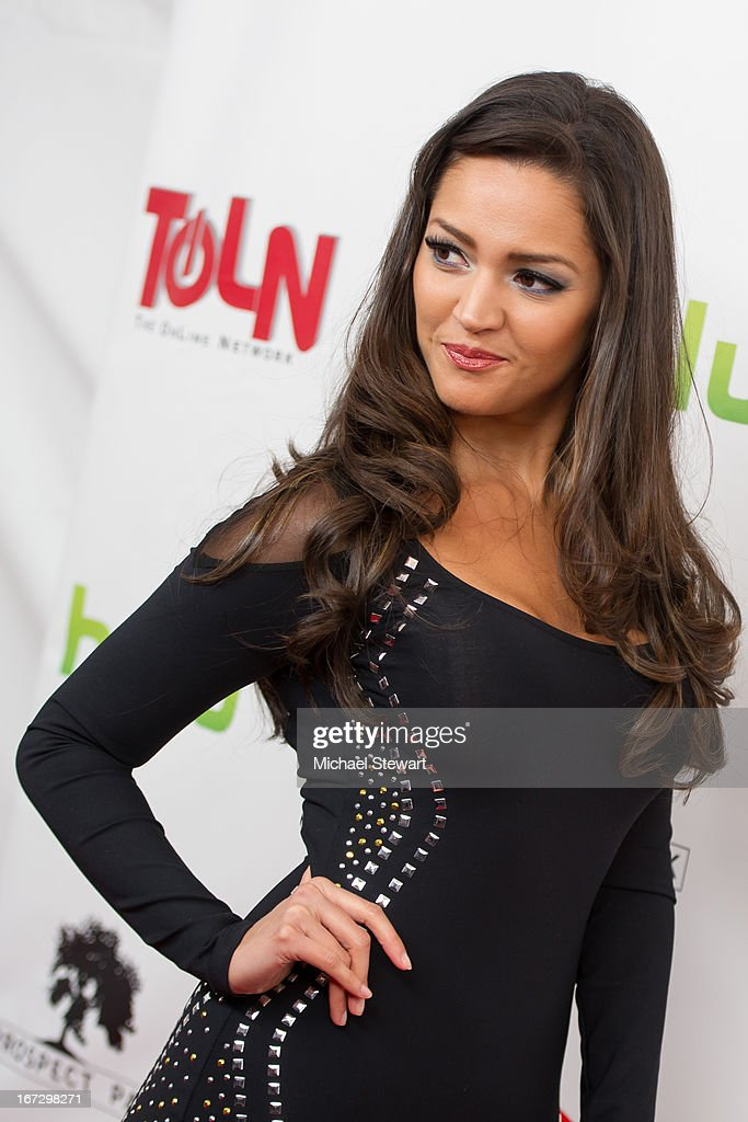 Actress Paula Garces attends the 'All My Children' 'One Life To Live' premiere at Jack H Skirball Center for the Performing Arts on April 23 2013 in...