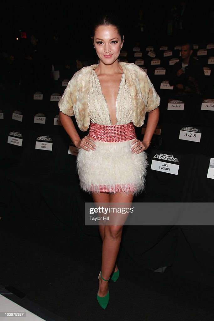 Actress Paula Garces attends the Project Runway Fall 2013 Mercedes-Benz Fashion Show at The Theater at Lincoln Center on February 8, 2013 in New York City.