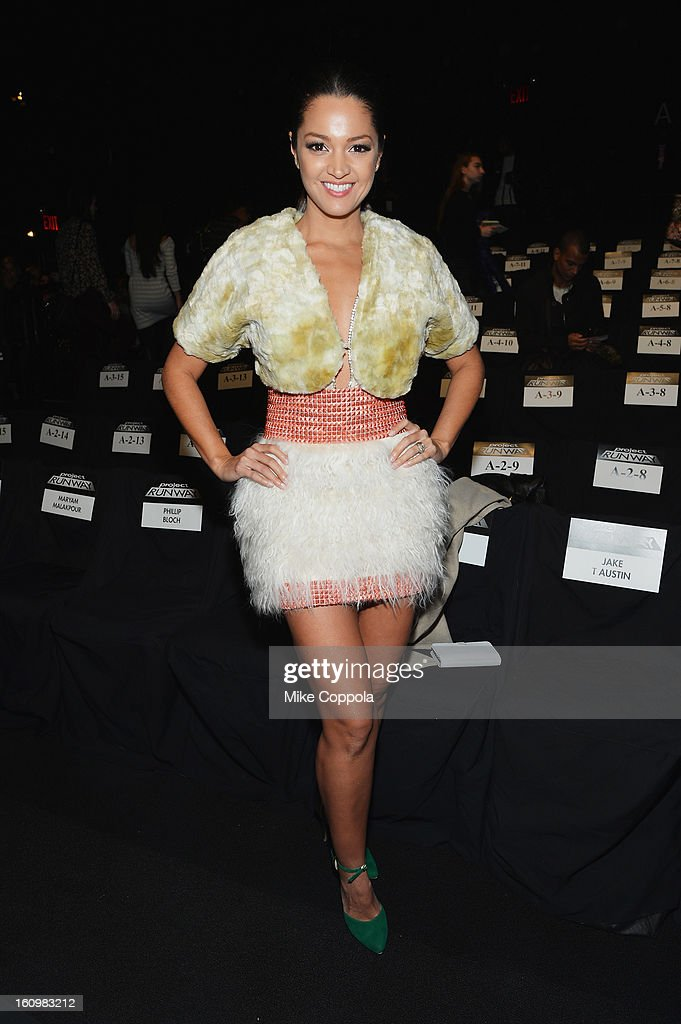 Actress Paula Garces attends the Project Runway Fall 2013 fashion show during Mercedes-Benz Fashion Week at The Theatre at Lincoln Center on February 8, 2013 in New York City.