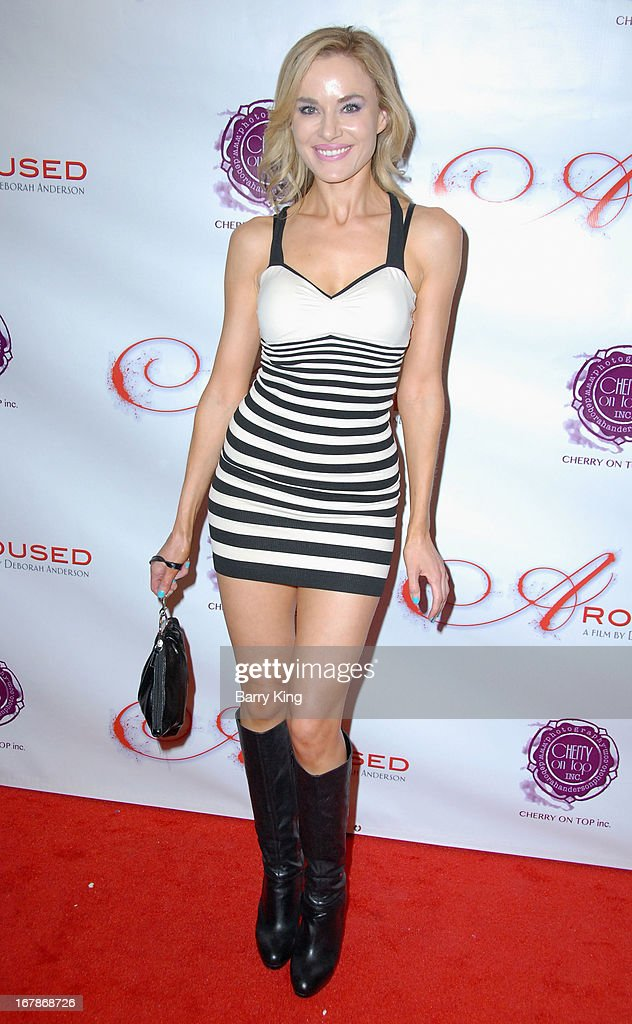 Actress Paula LaBaredas attends the 'Aroused' - Los Angeles Premiere on May 1, 2013 at the Landmark Nuart Theatre in Los Angeles, California.