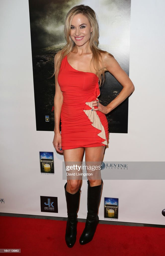 Actress Paula LaBaredas attends the premiere of 'A Resurrection' at ArcLight Sherman Oaks on March 19, 2013 in Sherman Oaks, California.