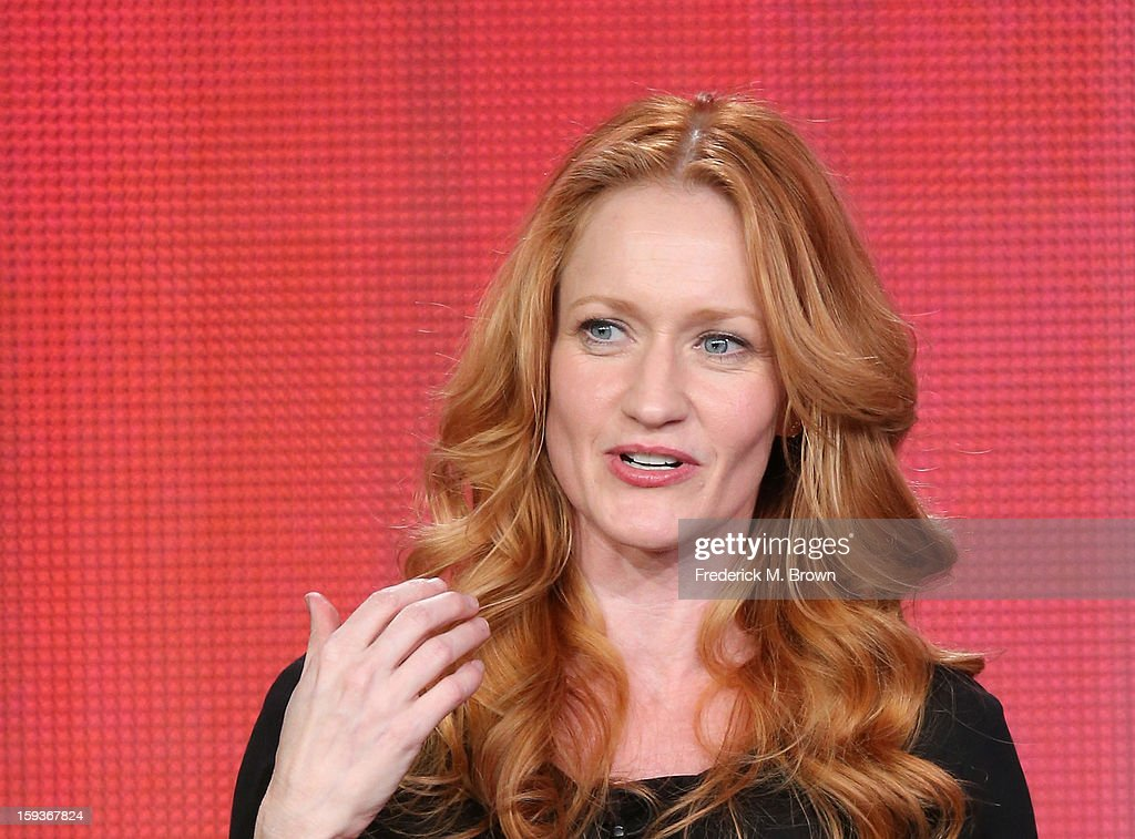 Actress Paula Malcomson of 'Ray Donovan' speaks onstage during the Showtime portion of the 2013 Winter TCA Tour at Langham Hotel on January 12, 2013 in Pasadena, California.