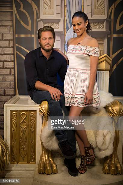 Actress Paula Patton and actor Travis Fimmel are photographed for USA Today on May 11 2016 in Los Angeles California PUBLISHED IMAGE