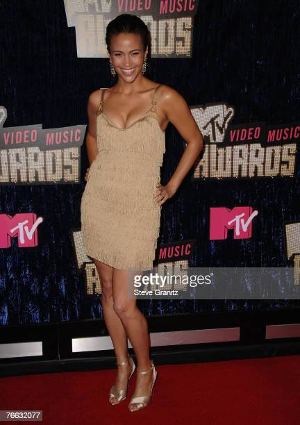 Actress Paula Patton arrives at the 2007 Video Music Awards at the Palms Casino Resort on September 9 2007 in Las Vegas Nevada