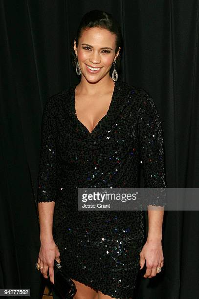 Actress Paula Patton arrives at the Friends Without Borders First Annual Los Angeles Gala at The Roosevelt Hotel on December 10 2009 in Hollywood...