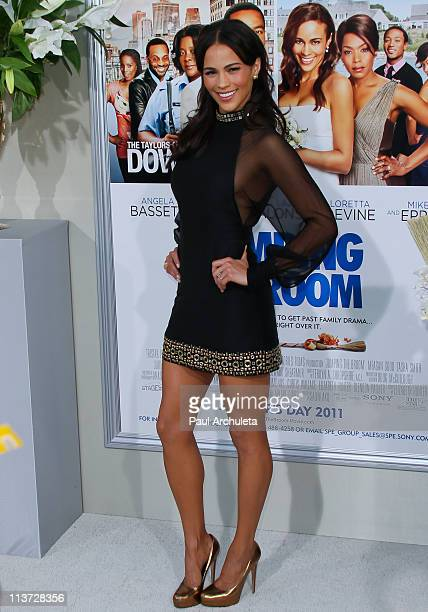 Actress Paula Patton arrives at the 'Jumping The Broom' Los Angeles premiere at ArcLight Cinemas Cinerama Dome on May 4 2011 in Hollywood California