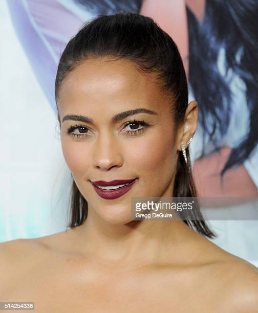 Actress Paula Patton arrives at the premiere of Lionsgate's 'The Perfect Match' at ArcLight Hollywood on March 7 2016 in Hollywood California