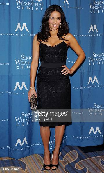 Actress Paula Patton arrives at the Simon Wiesenthal Center Annual National Tribute Dinner Honoring Tom Cruise at the Beverly Wilshire Four Seasons...