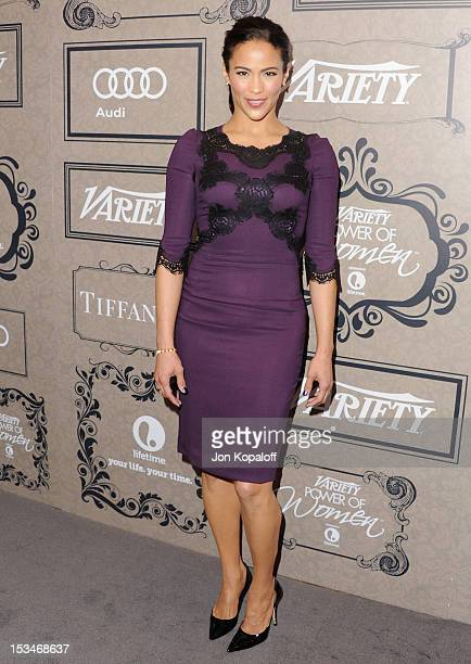 Actress Paula Patton arrives at the Variety's 4th Annual Power Of Women Event Presented By Lifetime at the Beverly Wilshire Four Seasons Hotel on...