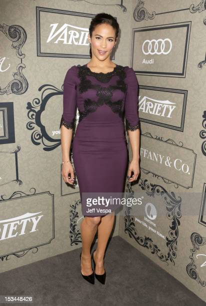 Actress Paula Patton arrives at Variety's 4th Annual Power of Women Event Presented by Lifetime at the Beverly Wilshire Four Seasons Hotel on October...