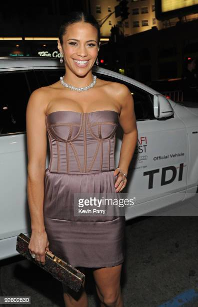 Actress Paula Patton arrives in an Audi TDI to the Precious AFI Fest 2009 Premiere at Grauman's Chinese Theatre on November 1 2009 in Hollywood...