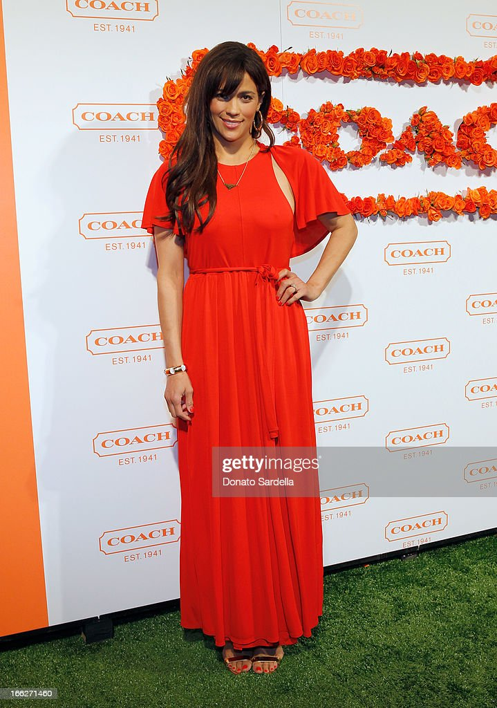 Actress <a gi-track='captionPersonalityLinkClicked' href=/galleries/search?phrase=Paula+Patton&family=editorial&specificpeople=752812 ng-click='$event.stopPropagation()'>Paula Patton</a> attends Coach's 3rd Annual Evening of Cocktails and Shopping to Benefit the Children's Defense Fund hosted by Katie McGrath, J.J. Abrams and Bryan Burk at Bad Robot on April 10, 2013 in Santa Monica, California.