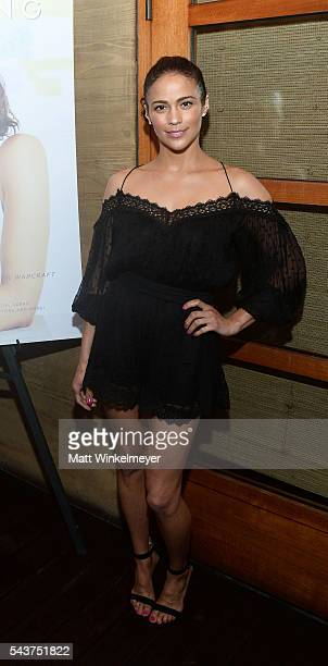 Actress Paula Patton attends Jetsmarter and Tanqueray celebrate Paula Patton Haute Living Cover at Nobu Malibu on June 29 2016 in Malibu California