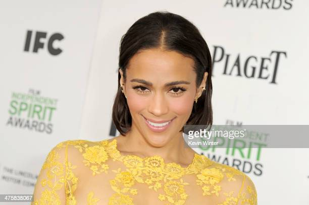 Actress Paula Patton attends the 2014 Film Independent Spirit Awards at Santa Monica Beach on March 1 2014 in Santa Monica California