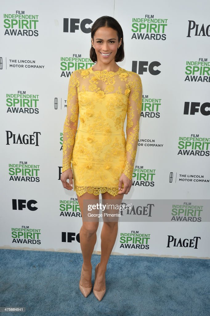 Actress <a gi-track='captionPersonalityLinkClicked' href=/galleries/search?phrase=Paula+Patton&family=editorial&specificpeople=752812 ng-click='$event.stopPropagation()'>Paula Patton</a> attends the 2014 Film Independent Spirit Awards at Santa Monica Beach on March 1, 2014 in Santa Monica, California.
