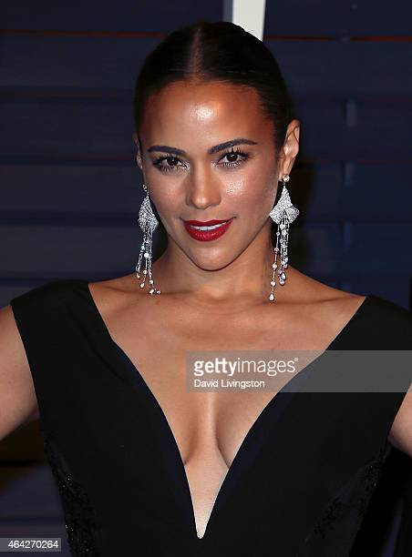 Actress Paula Patton attends the 2015 Vanity Fair Oscar Party hosted by Graydon Carter at the Wallis Annenberg Center for the Performing Arts on...