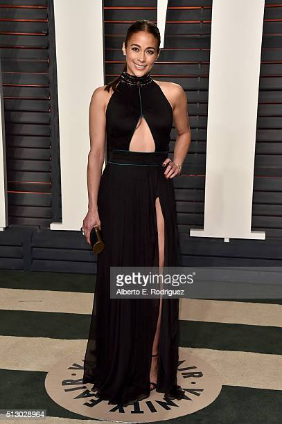 Actress Paula Patton attends the 2016 Vanity Fair Oscar Party hosted By Graydon Carter at Wallis Annenberg Center for the Performing Arts on February...