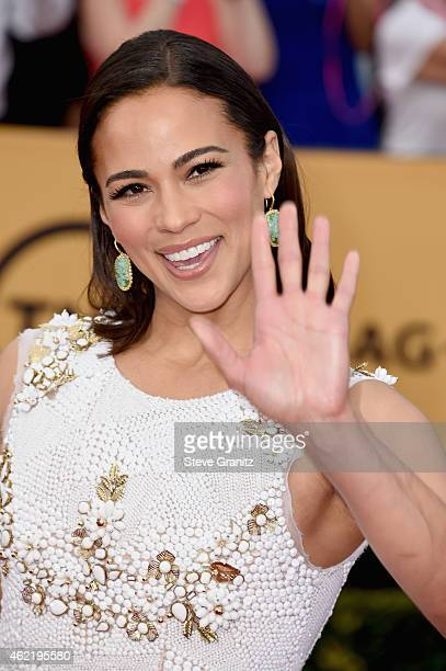 Actress Paula Patton attends the 21st Annual Screen Actors Guild Awards at The Shrine Auditorium on January 25 2015 in Los Angeles California