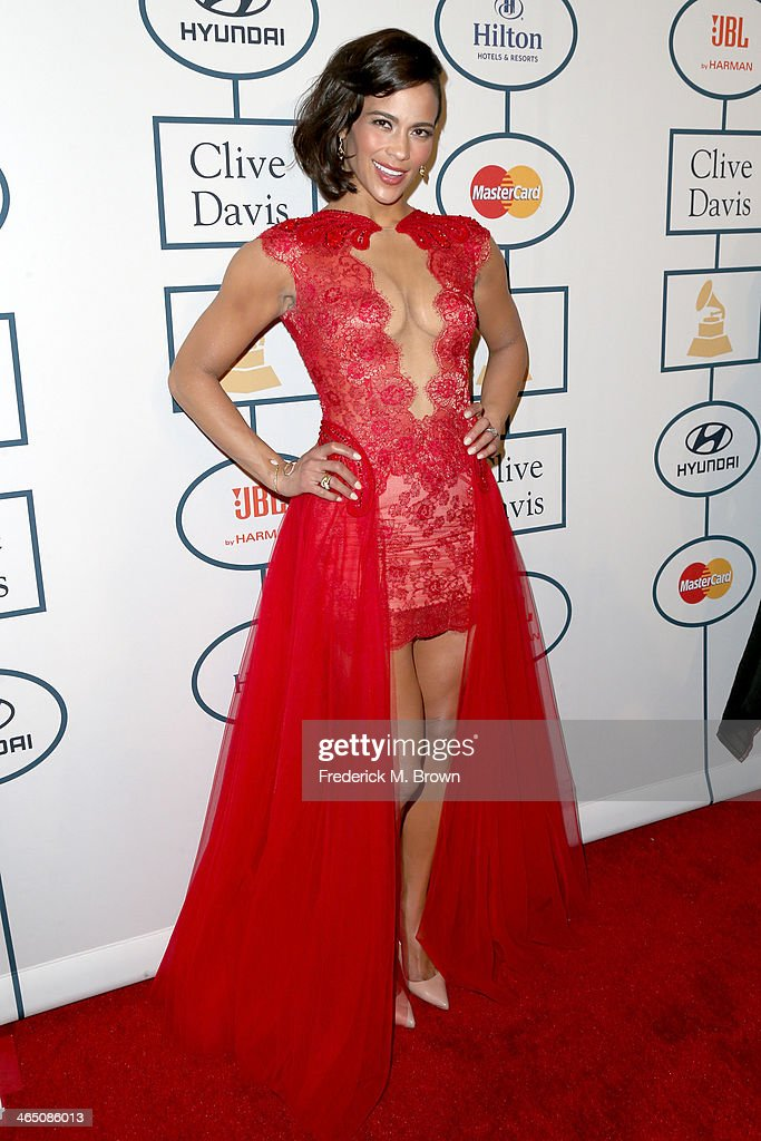 Actress Paula Patton attends the 56th annual GRAMMY Awards Pre-GRAMMY Gala and Salute to Industry Icons honoring Lucian Grainge at The Beverly Hilton on January 25, 2014 in Beverly Hills, California.