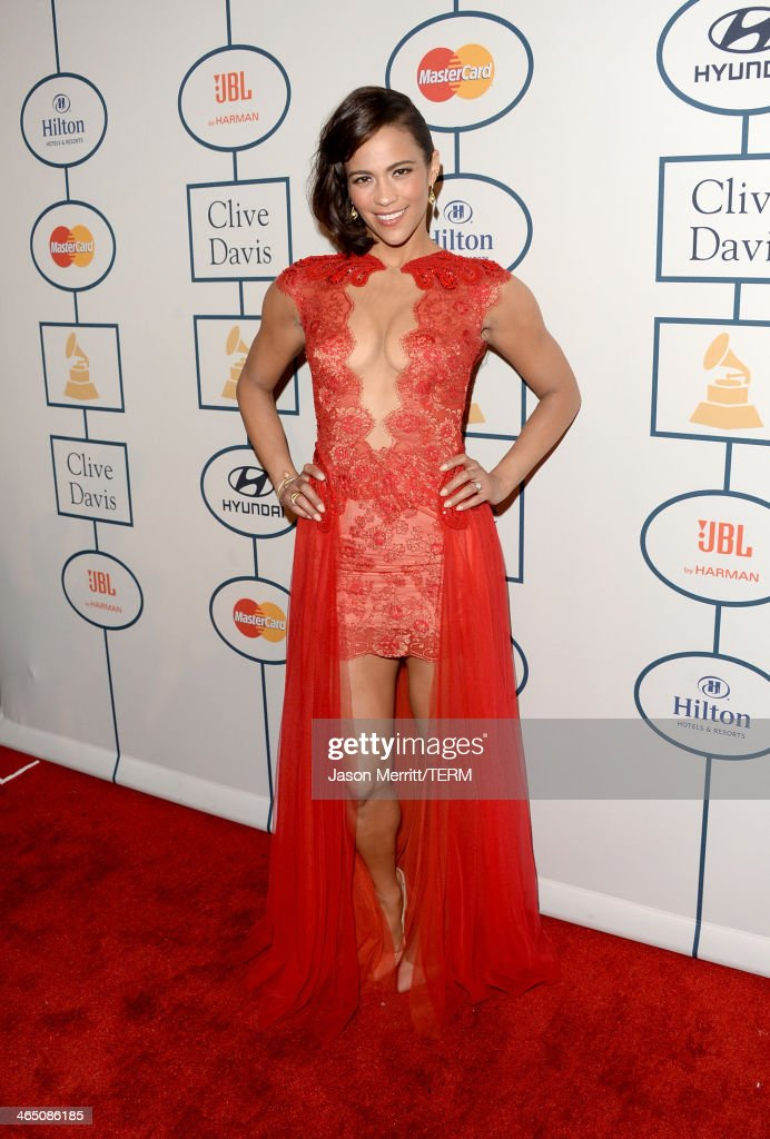 Actress Paula Patton attends the 56th annual GRAMMY Awards Pre-GRAMMY Gala and Salute to Industry Icons honoring Lucian Grainge at The Beverly Hilton on January 25, 2014 in Los Angeles, California.