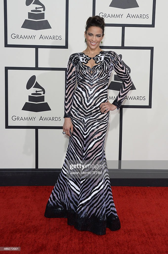 Actress Paula Patton attends the 56th GRAMMY Awards at Staples Center on January 26, 2014 in Los Angeles, California.