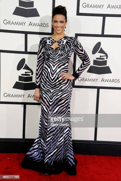 Actress Paula Patton attends the 56th GRAMMY Awards at Staples Center on January 26 2014 in Los Angeles California