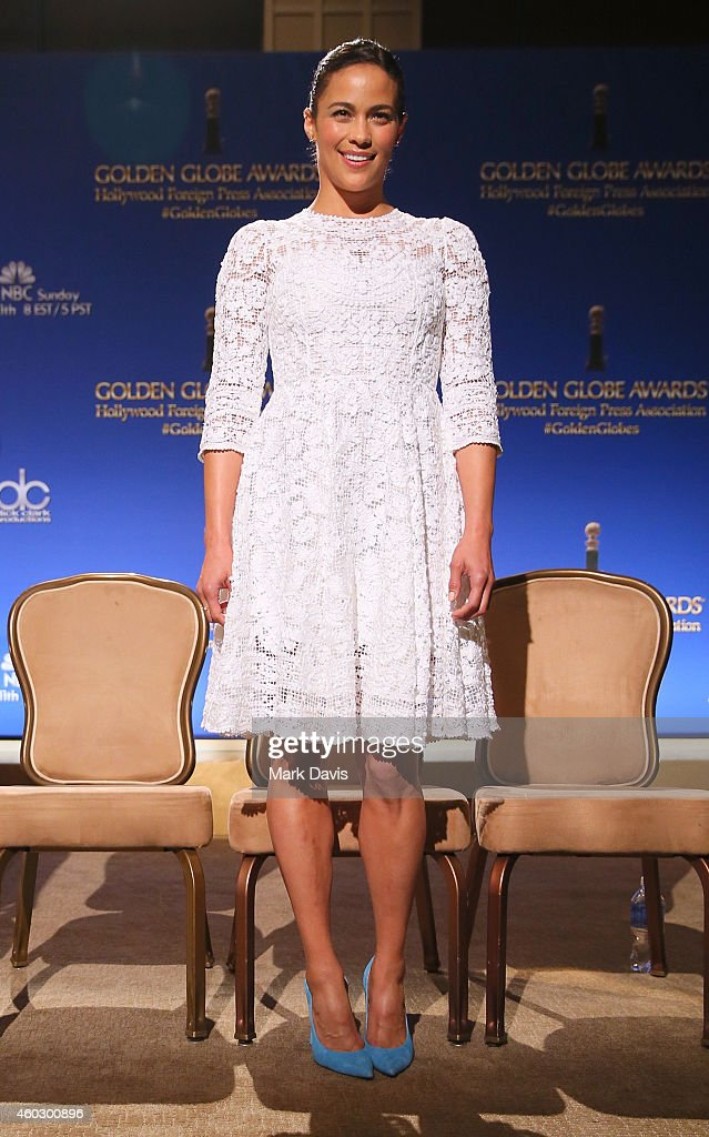 Actress Paula Patton attends the 72nd Annual Golden Globe Awards Nominations Announcement at The Beverly Hilton Hotel on December 11 2014 in Los...
