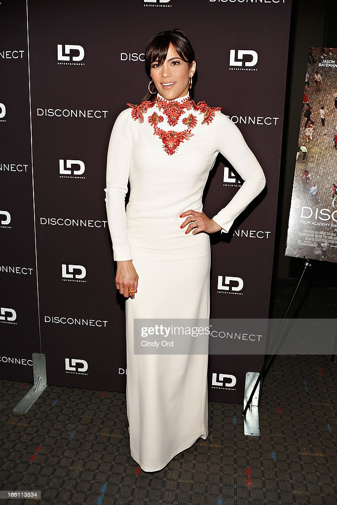 Actress Paula Patton attends the 'Disconnect' New York Special Screening at SVA Theater on April 8 2013 in New York City