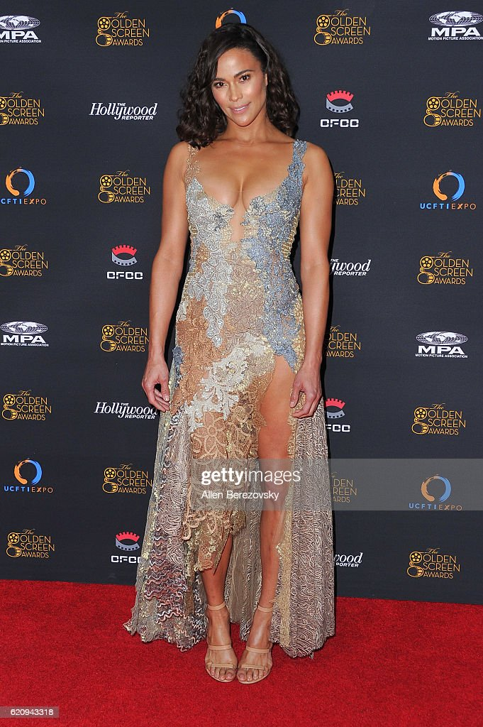 Actress Paula Patton attends The Golden Screen Awards at L.A. Live Event Deck on November 3, 2016 in Los Angeles, California.