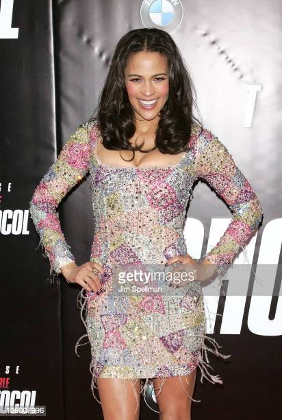 Actress Paula Patton attends the 'Mission Impossible Ghost Protocol' US premiere at the Ziegfeld Theatre on December 19 2011 in New York City