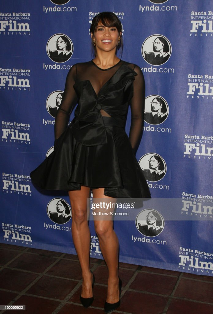 Actress Paula Patton attends the opening night screening of 'Disconnect' at the28th Santa Barbara International Film Festival on January 24 2013 in...
