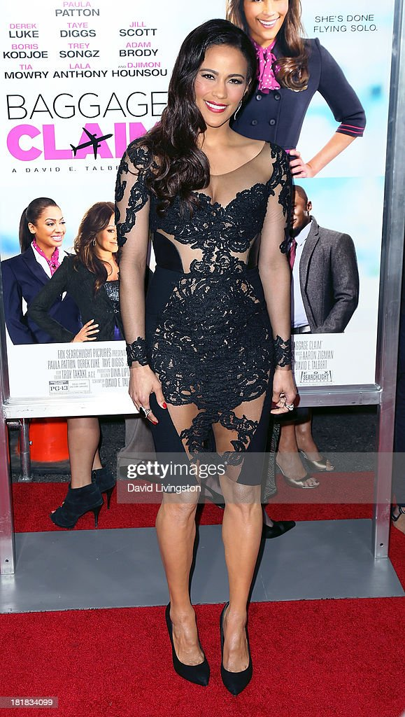 Actress <a gi-track='captionPersonalityLinkClicked' href=/galleries/search?phrase=Paula+Patton&family=editorial&specificpeople=752812 ng-click='$event.stopPropagation()'>Paula Patton</a> attends the premiere of Fox Searchlight Pictures' 'Baggage Claim' at Regal Cinemas L.A. Live on September 25, 2013 in Los Angeles, California.
