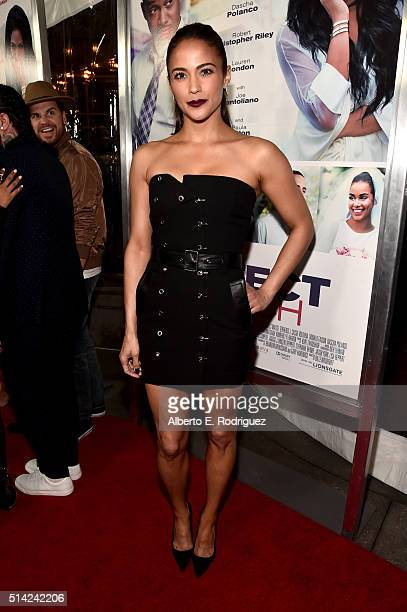 Actress Paula Patton attends the premiere of Lionsgate's 'The Perfect Match' at ArcLight Hollywood on March 7 2016 in Hollywood California