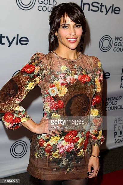 Actress Paula Patton attends the WGC Hosts Party With InStyle HFPA To Celebrate TIFF at the Windsor Arms Hotel on September 11 2012 in Toronto Canada