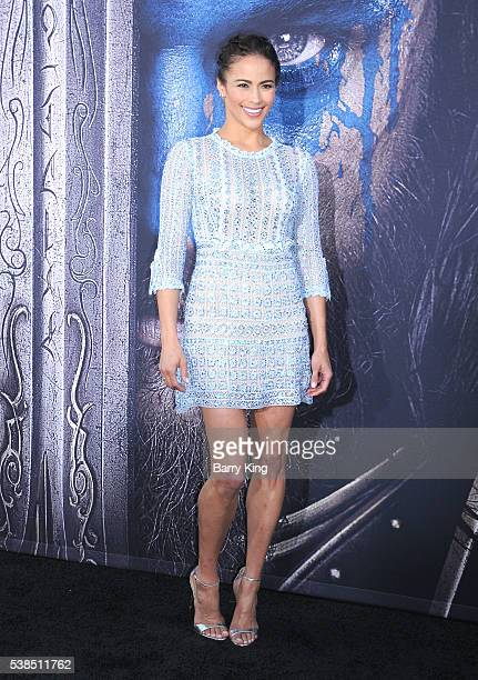 Actress Paula Patton attends Universal Pictures' premiere of 'Warcraft' at TCL Chinese Theatre IMAX on June 6 2016 in Hollywood California