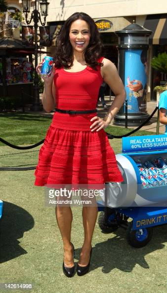 Actress Paula Patton Invites Fans To Sample New Pepsi Next For 'Drink It To Believe It' Campaign held at The Grove on April 9 2012 in Los Angeles...