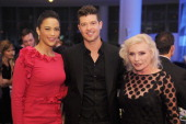 Actress Paula Patton singer Robin Thicke and singer Debbie Harry attend the 2013 GQ Gentlemen's Ball presented by BMW i Movado and Nautica at IAC...