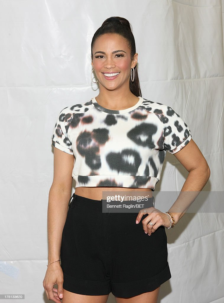Actress <a gi-track='captionPersonalityLinkClicked' href=/galleries/search?phrase=Paula+Patton&family=editorial&specificpeople=752812 ng-click='$event.stopPropagation()'>Paula Patton</a> visits BET's '106 & Park' at BET Studios on July 31, 2013 in New York City.