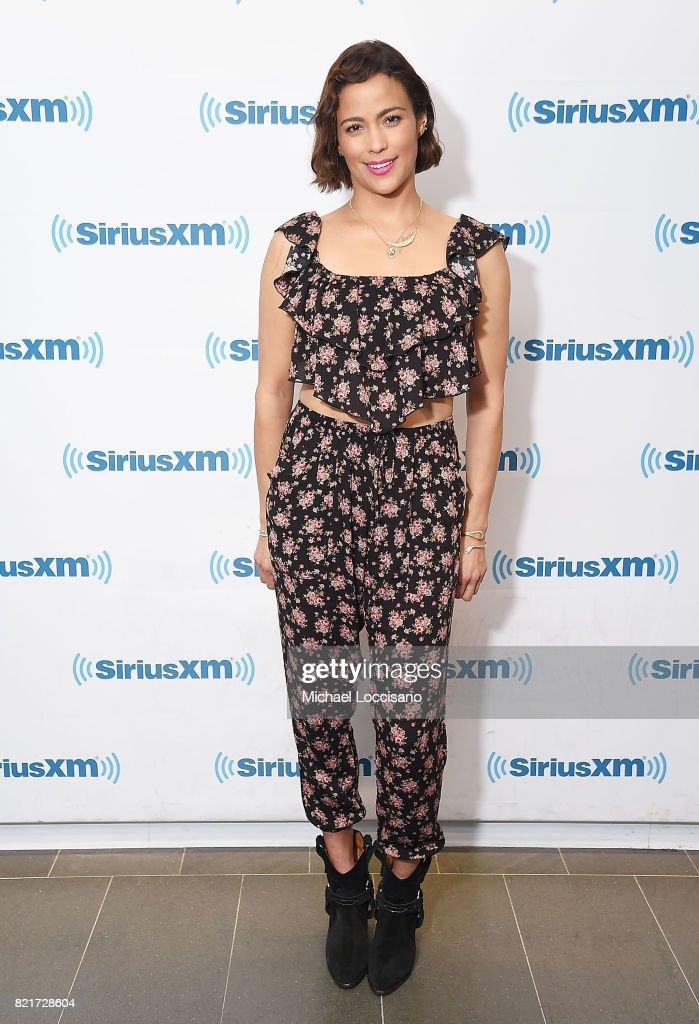 Actress Paula Patton visits SiriusXM Studios on July 24, 2017 in New York City.