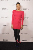 Actress Paula Patton walks the red carpet at the 2013 GQ Gentlemen's Ball presented by BMW i Movado and Nautica at IAC Building on October 23 2013 in...