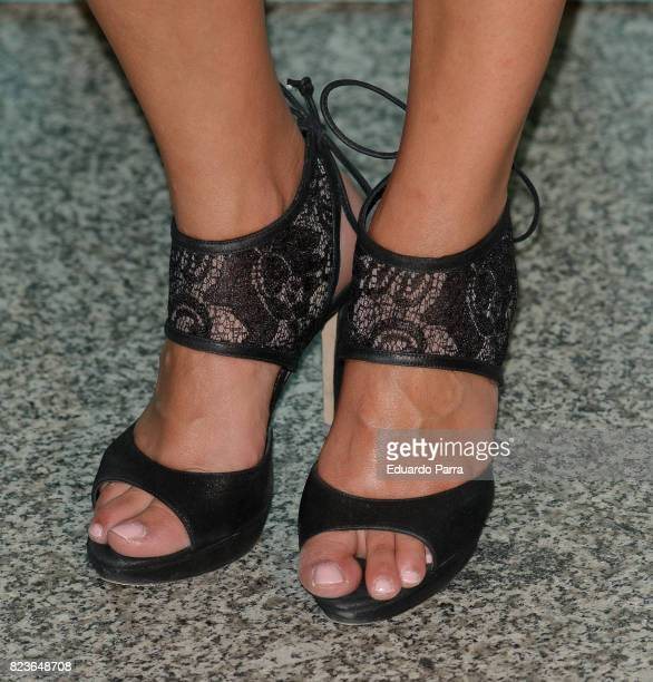 Actress Paula Prendes shoes detail attends James Rhodes concert at the Royal Theatre on July 27 2017 in Madrid Spain