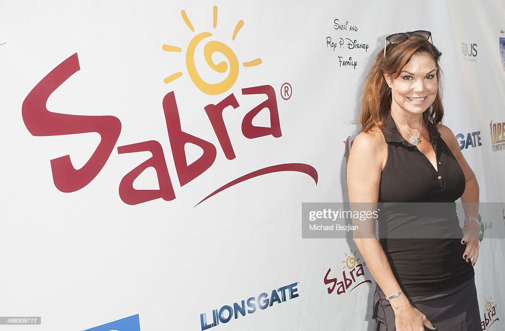 Actress Paula Trickey arrives at The 7th Annual George Lopez Celebrity Golf Classic Presented by Sabra Salsa at Lakeside Golf Club on May 5 2014 in...
