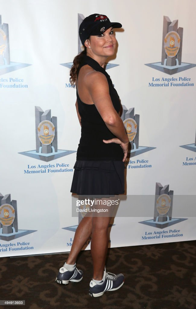 Actress Paula Trickey attends the Los Angeles Police Memorial Foundation Celebrity Golf Tournament Family Fun Day at the Brookside Golf Club on May...