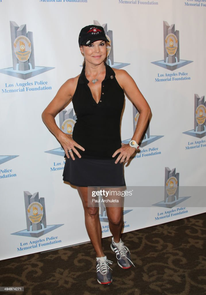 Actress Paula Trickey attends the Los Angeles Police Memorial Foundation Celebrity Golf Tournament Family Fun Day at Brookside Golf Club on May 31...