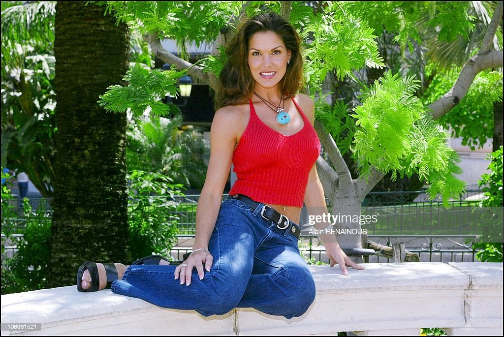 Actress Paula Trickey who's playing in 'Pacific blue' at the fortysecond film festival of Monaco on July 05 2002