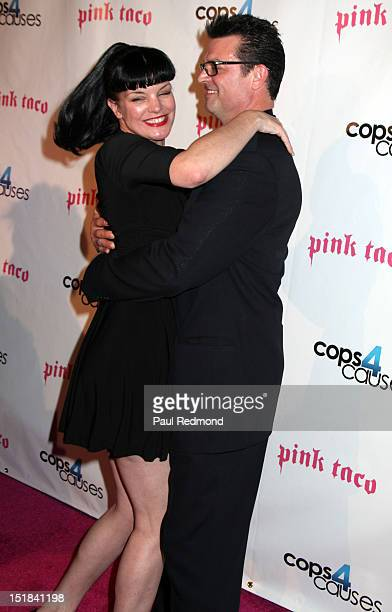 Actress Pauley Perrette and fiance Thomas Arklie arrive at Cops4Causes' Inaugural 'Heroes Helping Heroes' Benefit at Pink Taco on September 11 2012...
