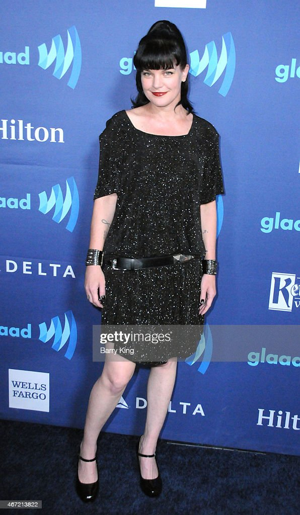 Actress <a gi-track='captionPersonalityLinkClicked' href=/galleries/search?phrase=Pauley+Perrette&family=editorial&specificpeople=625846 ng-click='$event.stopPropagation()'>Pauley Perrette</a> arrives at the 26th Annual GLAAD Media Awards at The Beverly Hilton Hotel in Beverly Hills, California.