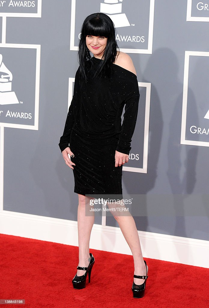 Actress Pauley Perrette arrives at the 54th Annual GRAMMY Awards held at Staples Center on February 12, 2012 in Los Angeles, California.
