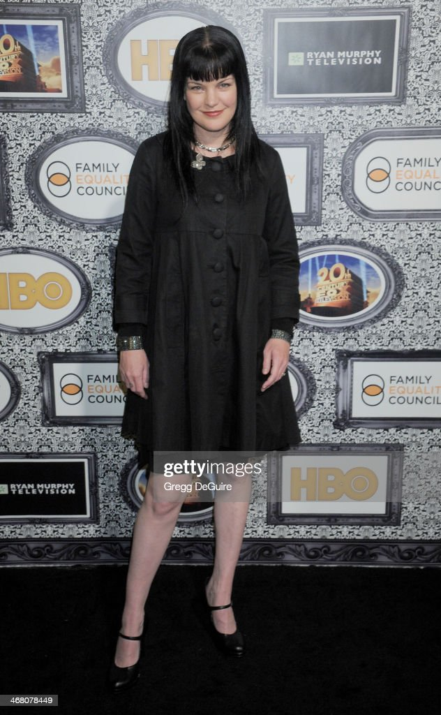 Actress <a gi-track='captionPersonalityLinkClicked' href=/galleries/search?phrase=Pauley+Perrette&family=editorial&specificpeople=625846 ng-click='$event.stopPropagation()'>Pauley Perrette</a> arrives at the Family Equality Council's Annual Los Angeles Awards Dinner at The Globe Theatre on February 8, 2014 in Universal City, California.