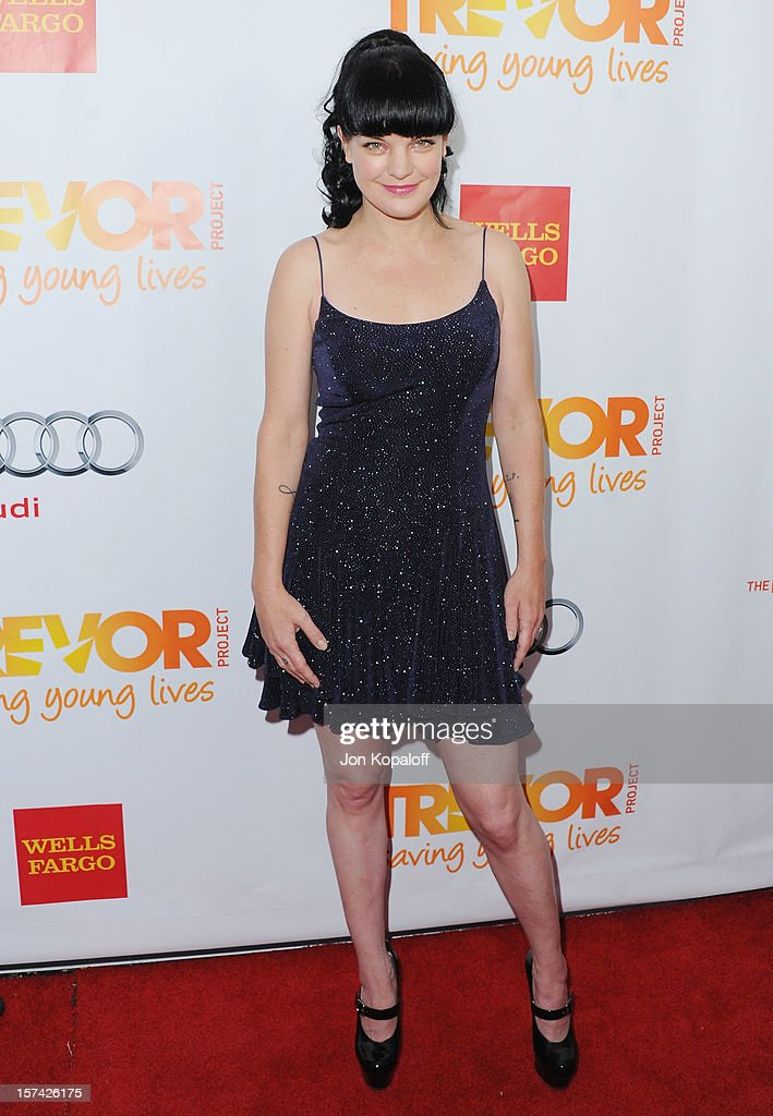 Actress Pauley Perrette arrives at The Trevor Project's 2012 'Trevor Live' Event Honoring Katy Perry at Hollywood Palladium on December 2, 2012 in Hollywood, California.